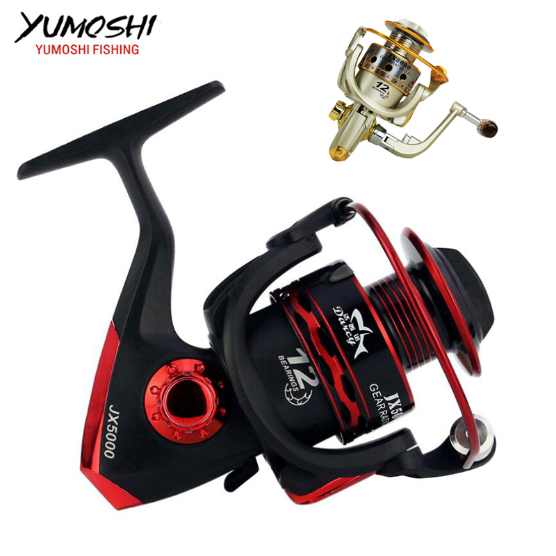 Metall Spool Angeln Reel 12BB 1000-7000 serie spinning reel Carretilha Pesca Rad angelrollen
