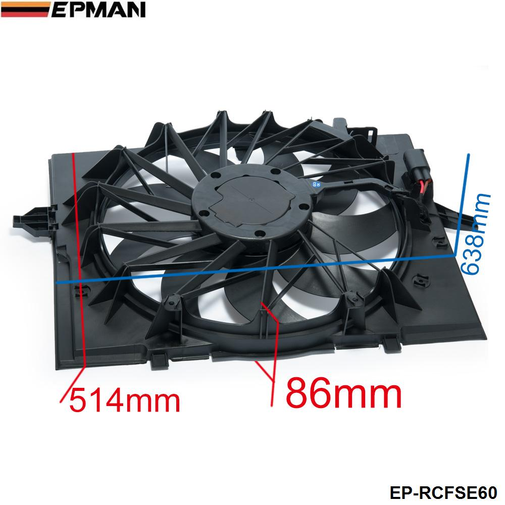 Aliexpress com buy epman sport radiator cooling fan brushless motor 17427543282 for bmw 5 series 528i 528 645 525 530 sedan e60 ep rcfse60 from reliable