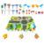 Funde mini lindo de dibujos animados cars conocimiento de tráfico educativo y aprendizaje de los niños de eva alfombra diy play toys regalo del coche para niños
