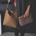 2017 designer de Marca bolsas femininas de Couro Das Mulheres saco das senhoras Padrão bolsa Bolsa de Ombro Feminino Bolsa De Crocodilo Tote Sac 2 em 1