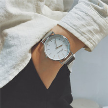 Youth boys tide men's casual Korean version of the simple ultra-thin fashion trend waterproof couple quartz watch