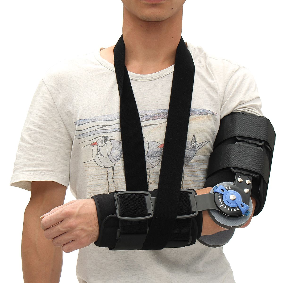 Professional Elbow Arm Sling Brace Support Shoulder Immobilizer Guard With Strap factory direct sale hinge elbow brace arm support medical orthopedic orthotics supports