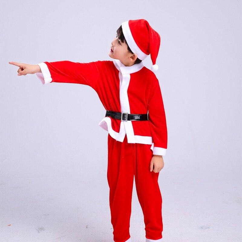 Ensemble de vêtements pour enfants noël bébé garçons filles costume de noël et robe Costumes de père noël nouveau-né Enfant vêtements 4-16y