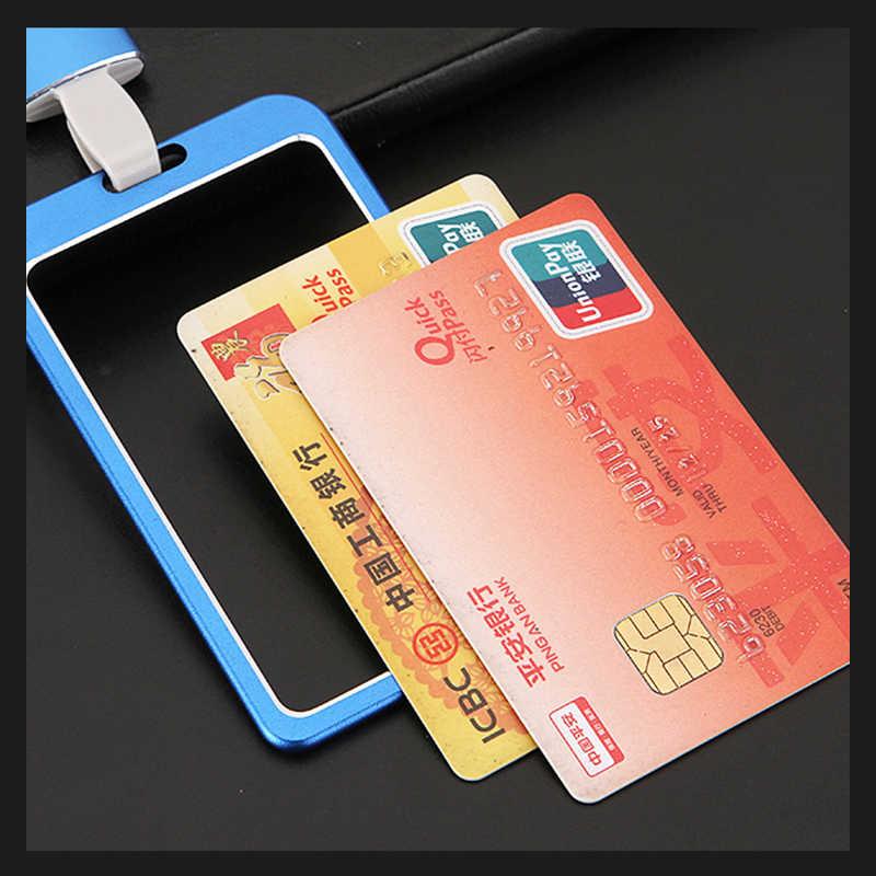 1 قطعة عالية الجودة سبائك الألومنيوم حامل بطاقة الموظف اسم ID بطاقة الغطاء المعدني العمل شهادة الهوية شارة ID الأعمال حالة
