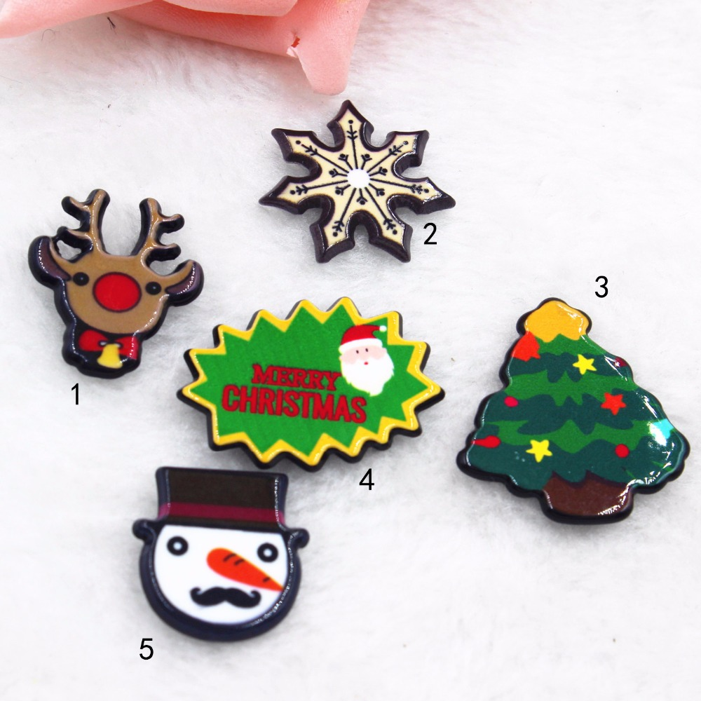 cartoon patch kawaii figurine miniatures christmas home decor crafts flat back planar resin diy headwear hair bow accessories