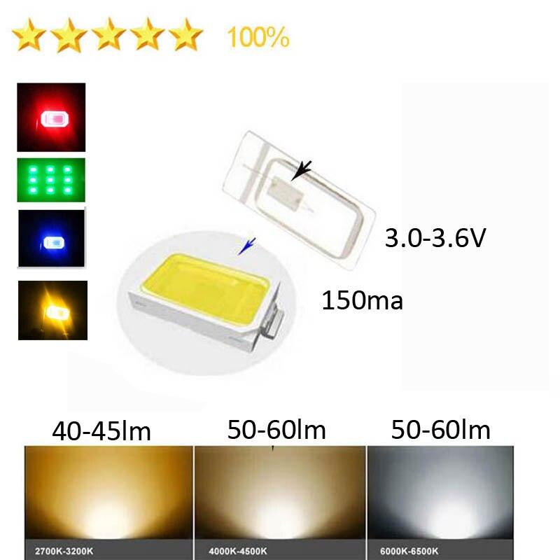 100PCS  High Brightness Full Spectrum 5730 SMD LED Chip 2.0-2.4V 3.0-4.6V 150ma Red Green Blue Yellow White Fast Delivery