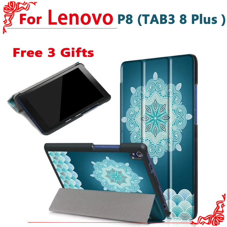 Case for Lenovo Tab 3 8 Plus TB-8703 TB-8703F 8Tablet stand Ultra slim Tab3 8 Plus TB-8703 PU Leather Protective case + gifts ultra thin slim stand litchi grain pu leather skin case with keyboard station cover for lenovo ideapad miix 320 10 1 tablet pc