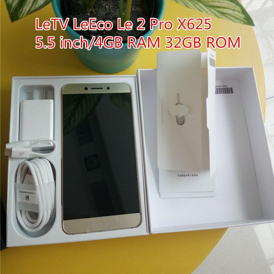 Letv Leeco Le 2 pro X625 4 gb RAM 32 gb ROM 5.5 pouce D'origine Mobile Téléphone MTK Helio X25 deca Core OS 6.0 LTE 4g 21.0MP 3000 mah