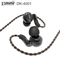 DUNU DK 4001 DK4001 HiFi аудио Hi Res бериллия PVD 5 драйвер (4 Ноулз BA + 1DD) гибридный наушники с mmcx съемный кабель