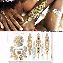 Nu-TATY 25 style Temporary 3D Tattoo Body Art, Choker Gold Designs, Flash Tattoo Sticker maquiagem