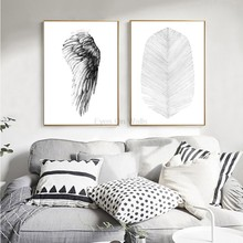 No Frame Wings of angels Palm leaf Poster Scandinavian Canvas Painting For Living Room Wall Picture Nordic Art Print Home Decor(China)