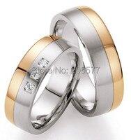 2014 модные ювелирные изделия тренд Западный биколор розовое золото цвет здоровья обручальные кольца наборы