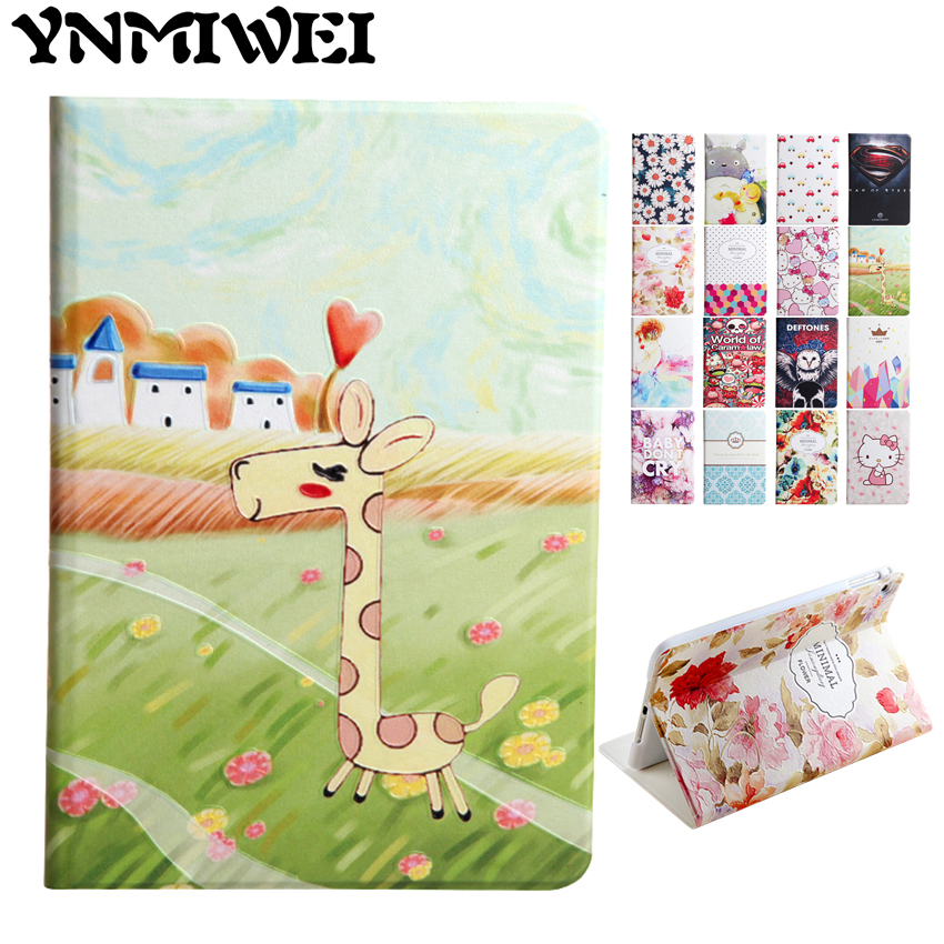 For iPad mini 4 PU Leather Case Slim 3D Colorful Print Stand Fundas For Apple iPad mini4 mini 4 7.9'' Protective Tablet PC Cover for apple ipad mini 4 tablet case pu flip leather stand cartoon animal owl cat cover for ipad mini 4 fundas coque