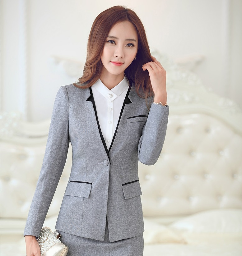 Formal Uniform Style Female Blazer Coat Elegant Professional ...