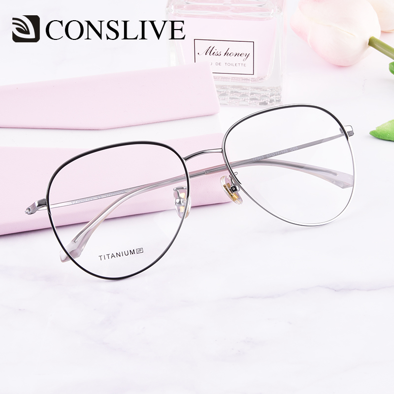 2019 Titanium Aviator Glasses Men Frame Prescription Glasses Retro Pilot Eyeglasses Progressive Myopia Glasses Women 17903