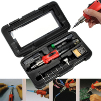 Self Ignition 10 In 1 Gas Soldering Iron Cordless Welding Torch Kit Tool HS 1115K Top