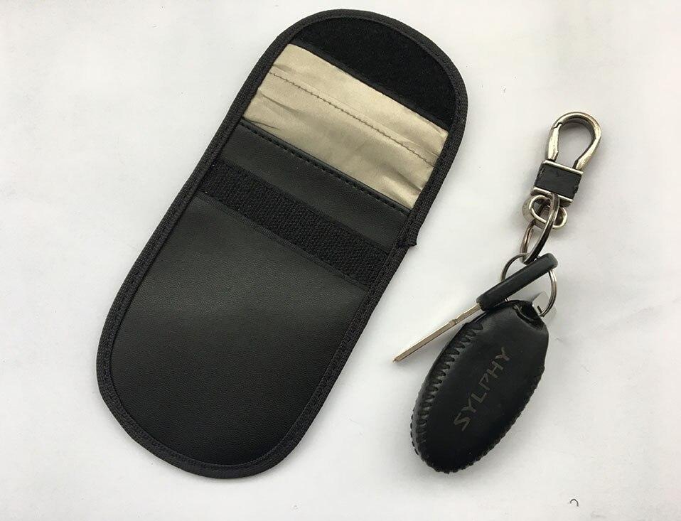 Car Keyless Home Storage Bags Organization Phone Car Key Keyless Entry Fob Signal Guard Blocker Black Faraday Bag                (10)