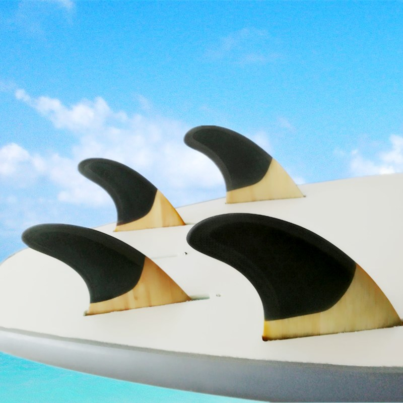 SUP Surfboard FCS-Quad-Fins G5+GX Quilhas Honeycomb+Bamboo Surf FCS Fin Quilhas Free Shipping цена