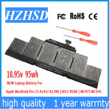 цены 10.95v 95Wh New Original A1417 Laptop Battery for Apple MacBook Pro A1398 15