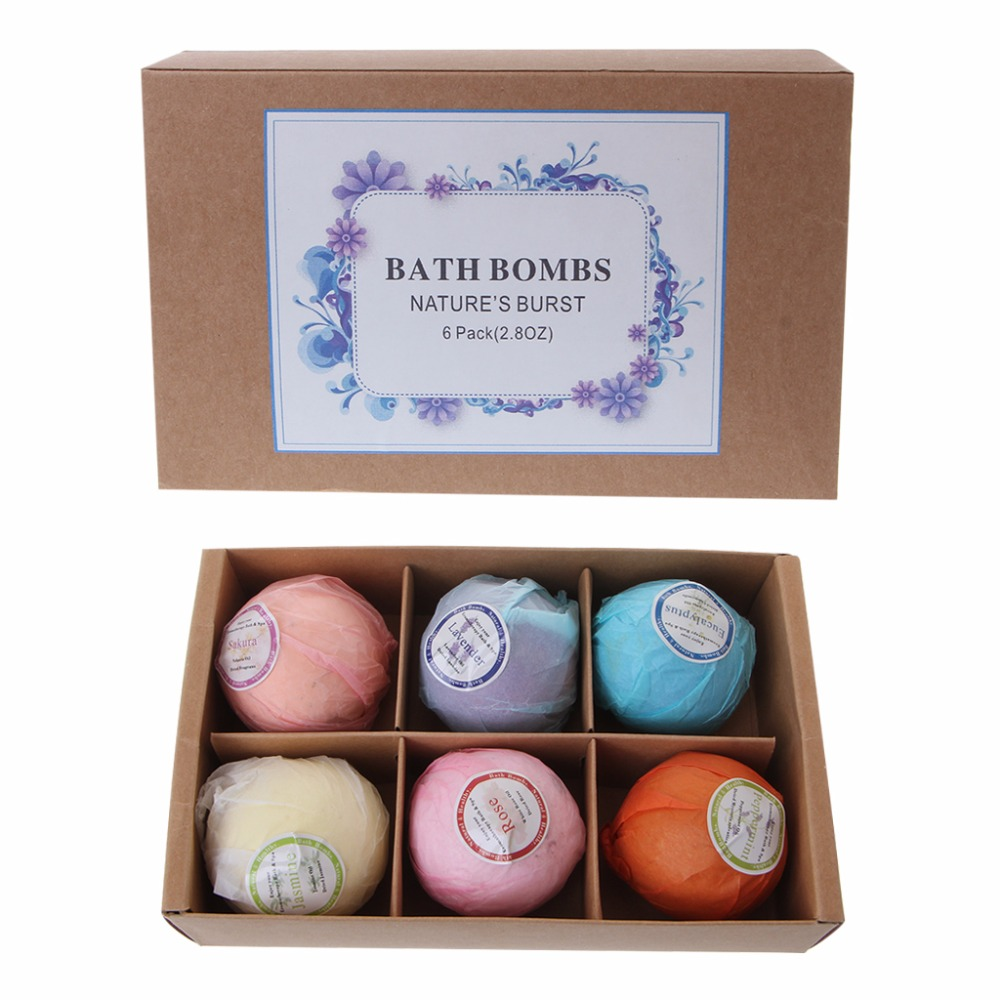 Organic Bath Bombs Bubble Bath Salts Essential Oil Handmade SPA Stress Relief