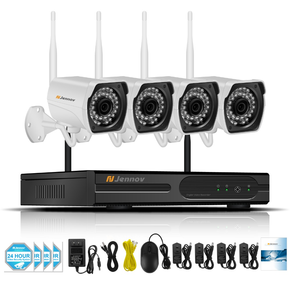 Wireless Home Security CCTV Camera System Outdoor Video Surveillance Kit With NVR 960P 1.3MP Wi-fi Camera With 4CH NVR Ip cam