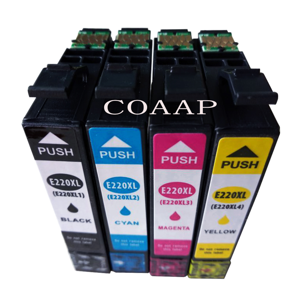 4PK High-Yield Compatible Ink Cartridge T220XL 220XL T2201 T2202 T2203 T2204 For EPSON XP320 XP420 XP424 WF2630 WF2650 WF2660