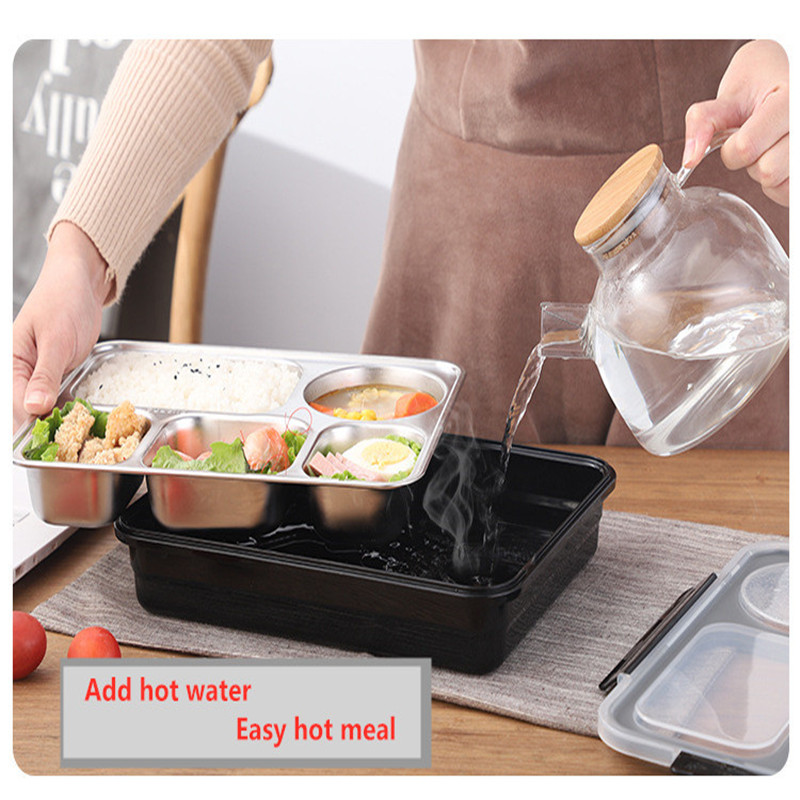 Lunch Box with Tableware Insulation Bag 304 Stainless Steel Portable Leakproof Food Thermal Container Separate Compartments in Lunch Boxes from Home Garden