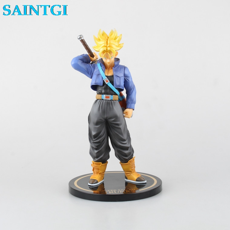 SAINTGI  Dragon Ball Z GOHAN Trunks Super Crystal Gotenks Saiyan Son Goku Anime PVC Action Figure Collectible Toy 24CM Boxed anime figure 32cm dragon ball z super saiyan son goku lunar new year color limited ver pvc action figure collectible model toy