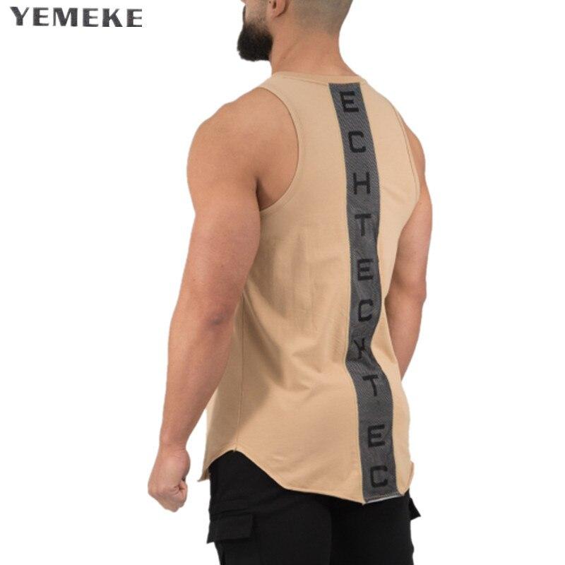 YEMEKE Golds gyms Brand singlet canotte bodybuilding stringer   tank     top   men fitness vest muscle guys sleeveless   Tank     top