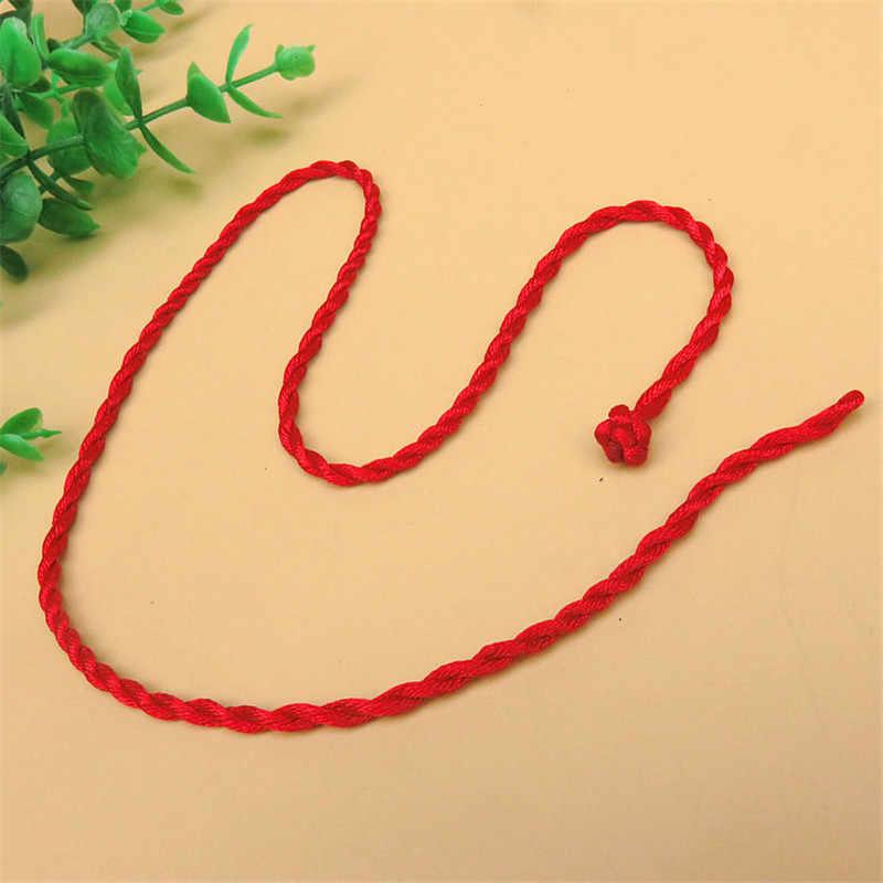 الجملة 1 قطعة حبل أحمر الإسورة محظوظ أساور خلخال قلادة للنساء الحبل سلسلة خط DIY اليدوية والمجوهرات هدية