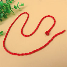 Wholesale 1pc Red Rope Bangle Lucky Bracelets Anklet Necklace for Women Cord String Line DIY Handmade Jewelry Gift(China)