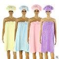 Doce cor mulheres primavera outono coral fleece robe casa vestir desgaste vestido de alças de banho das senhoras casuais roupões de banho Q896