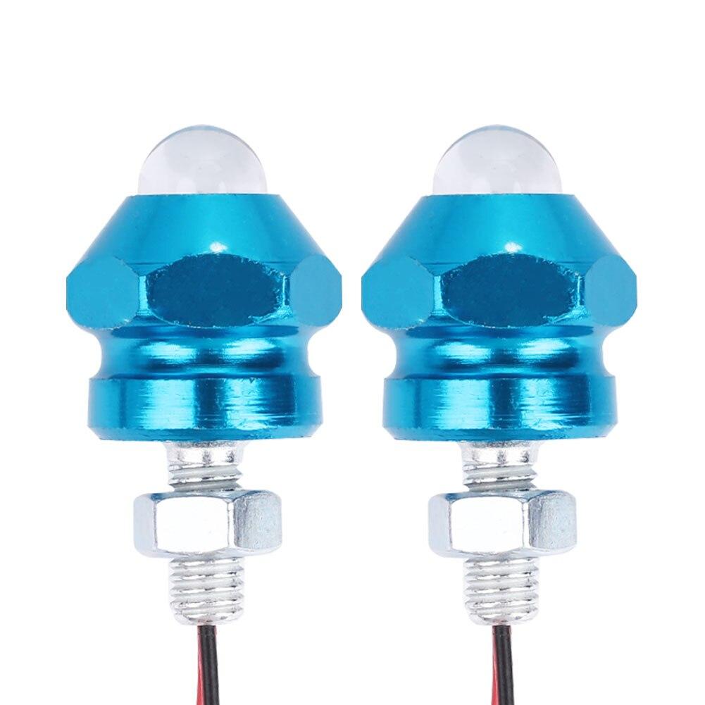Vehemo для мотоцикла, 2 шт. сигнальный светильник, световой индикатор, красочная сигнальная лампа, лампа для номерного знака, универсальная лампа для мотоциклов - Цвет: blue