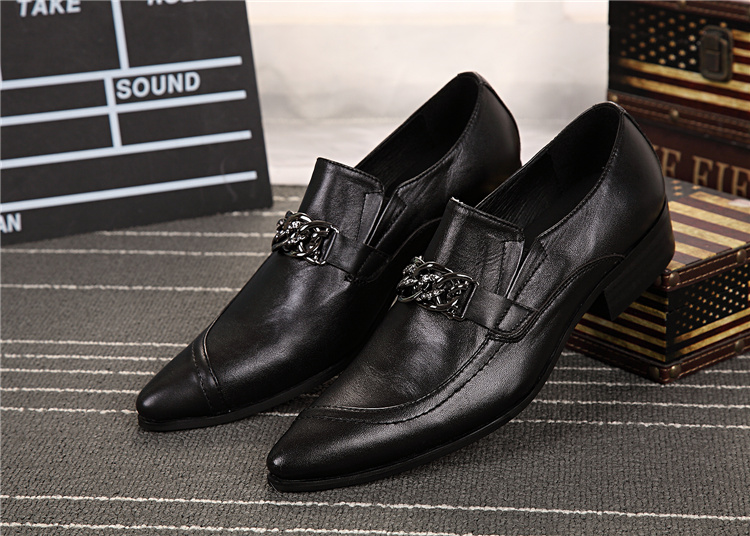 mens dress shoes genuine leather wedding shoes men office suit shoe black  white pointed toe office businessman formal oxfords-in Formal Shoes from  Shoes on ... e0cb51e2e48e