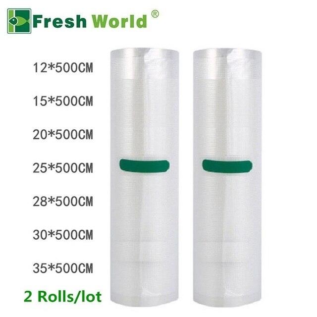Kitchen Food Vacuum Bag Storage Bags For Vacuum Packer Fresh Long Keeping 12/15/20/25/28/30/35*500cm Vacuum Bags For Food Roll