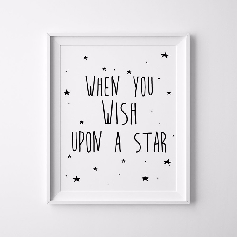 Stars Quotes Kids Poster Nursery Print Art Wall Picture Oil