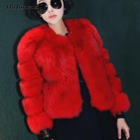 Lujo winter warm faux fur bomber jacket coat mujeres outwear real abrigos de piel chaleco de piel de visón pelaje esponjoso de color rosa XXL
