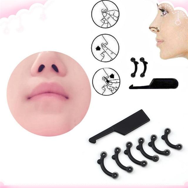 6PCS/Set 3 Sizes Beauty Nose Up Lifting Bridge Shaper Massage Tool No Pain Nose Shaping Clip Clipper Women Girl Massager 2