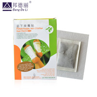 20pcs=1 box Bang De Li Foot Detox Patch Natural Feet Care Toxin Removal Detox Foot Patch Body Cleanse Russian Packaging