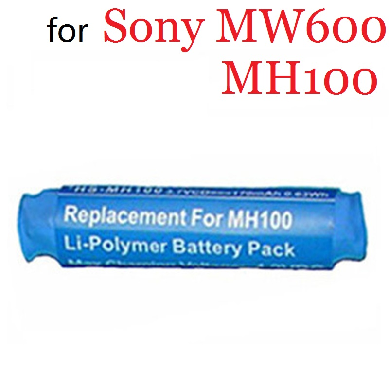 New Battery For Sony MW600 MH100 Headset Earphone Li-Polymer Polymer Rechargeable Accumulator Replacement 3.7V GP0836L17
