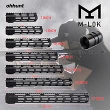 MLOK 7 9 10 12 13.5 15 17 AR15 Free Float M-LOK Handguard Picatinny Rail Slim Style Steel Barrel Nut for Scope Mount цена