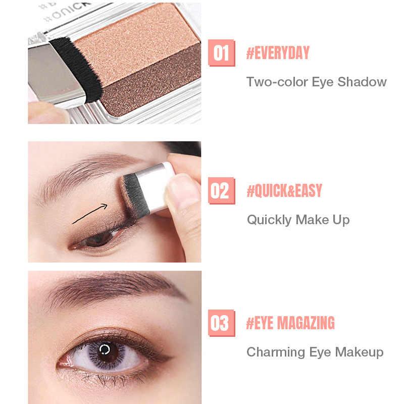Palette de maquillage ombre à paupières paresseux Double couleur Palette de paillettes Palette de fard à paupières