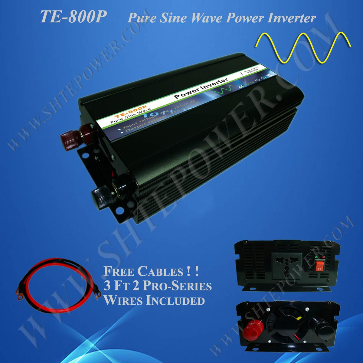 цена на Power inverter DC 12v to AC 230v, 800w pure sine wave power inverter, CE&RoHS Approved