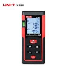UNI-T UT390B + Portátil Medidor de Distancia Láser 40 m Telémetro Láser Telémetro 40 M Área/volumen Tester Herramienta Lcd Luz de Fondo