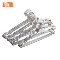10pcs Stainless Steel Strong Metal Wire Hangers Clothes Hangers 4mm Thickness Gage Hanger Houseware Drying Clothes