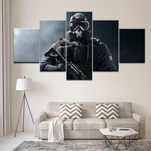 Canvas Painting Tom Clancys rainbow six siege 5 Pieces Wall Art Modular Wallpapers Poster Print Home Decor