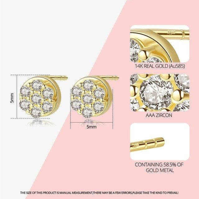 14K Gold Stud Earrings 1