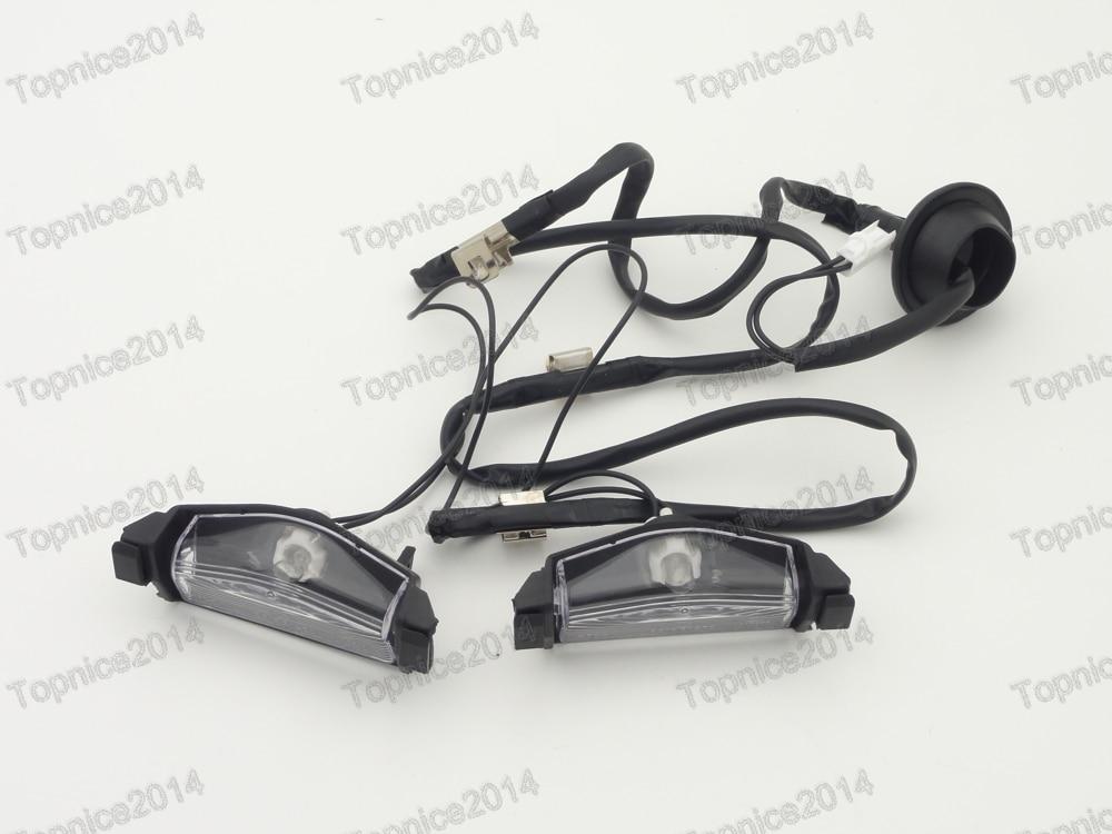 Luces de las placas de matrícula del parachoques trasero 1pair para - Luces del coche