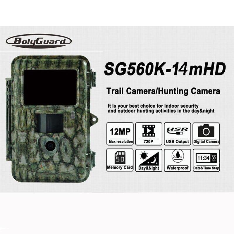 Bolyguard 14MP Extérieure Imperméable À L'eau La Faune Trail Chasse Caméra 940nm IR LED pour La Vision Nocturne caméra de surveillance SG560K-14mHD