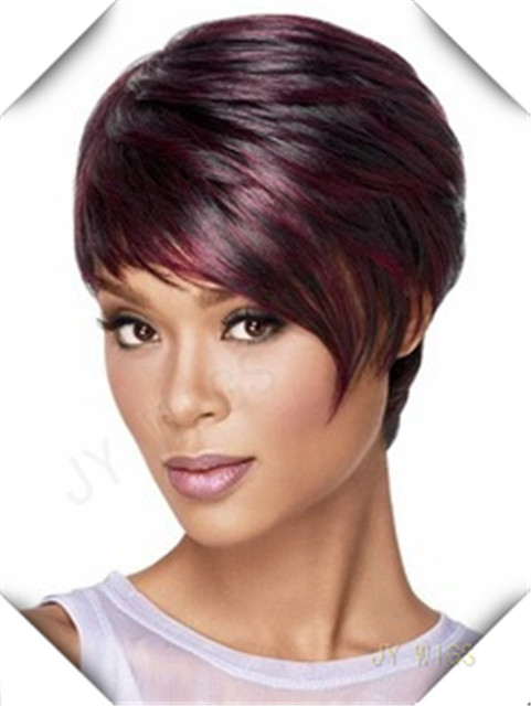 Short Burgundy Wig Curly Wig Bob Kinky Wavy Womens's Hair For Lady Sexy Party Cosplay Costume Wigs Short Burgundy Wig